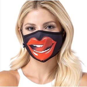 Accessories - Lip and Tongue Designer Face Masks
